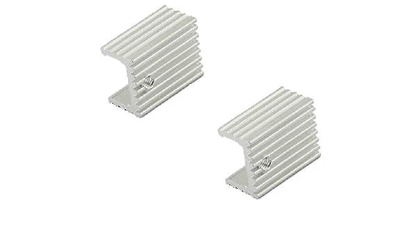 20PCS New Heat Sink 21x15x10mm Aluminum Heat Sink TO-220 Transistors DIY