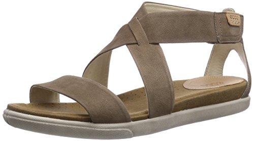 Ecco Damara - Sandalias de vestir de piel para mujer marrón - Braun (Sandal02175)
