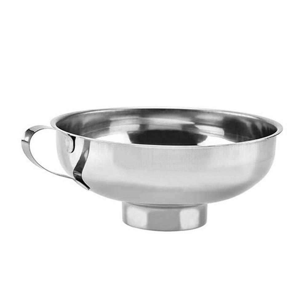 Küchen-Trichter aus Edelstahl, mit Griff, für die Übertragung von Flüssigkeiten, Öl, Pulver und Marmelade