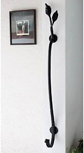 手すり ロートアイアン 室内壁付手摺 手づくり フェアリーテイル ドラコ 艶消し黒 おしゃれ 室内用
