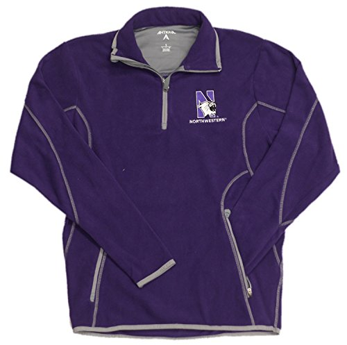 (Northwestern Logo Purple Fleece Ice Pullover Sweatshirt (2X-large))