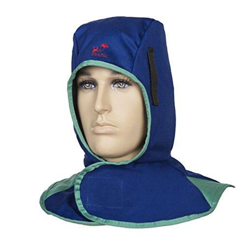 KUNSE Flame Retardant Safey Helmet Welding Neck Protective Hood Welder Head Cap Cover-Royal