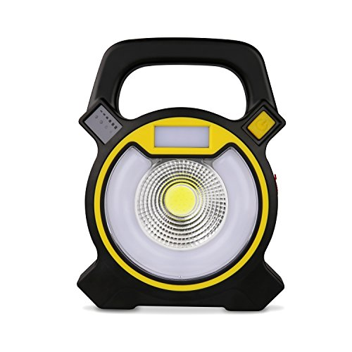 LED Work Light Yimei 15W 24 LED Rechargeable Shop Light Portable Outdoor Camping Spot Light with USB Port and Emergency SOS Mode (Rechargable Work Light)