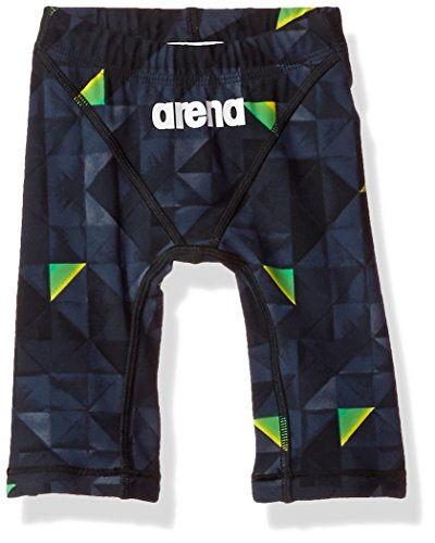 arena Teen-Boys Boy's Powerskin St 2.0 LE Jammer, Black- Yellow, 26
