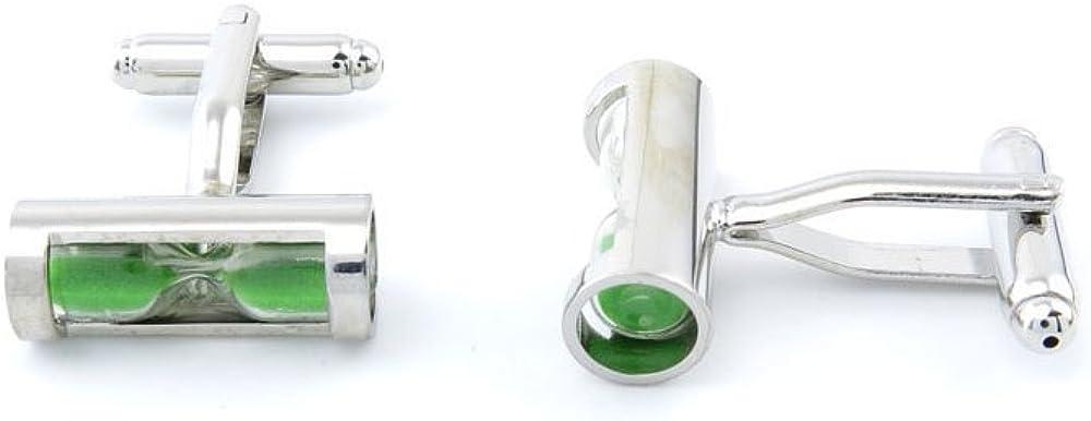 Green Wave Dichroic Glass Cufflinks-Square Original Fused Glass Cufflinks-Emerald Green Mens Cufflinks-Handcrafted Groomsman Gift