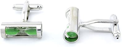 Green Crystal Cut Cufflinks Spring Green Beautiful Colored Gem Silver Accents Cuff Links cool cufflinks wedding cufflinks classic cufflinks