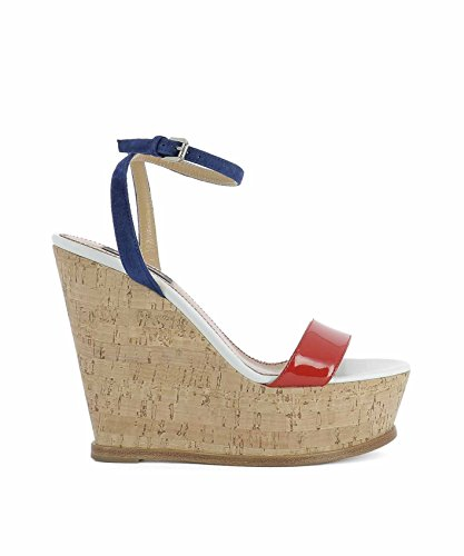 Dsquared2 Cuir Chaussures Compensées Multicolore Femme S17W205404M023 rqwa4r7