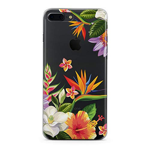 (Lex Altern Floral iPhone Apple Case Xs Max X 8 Xr Plus 10 7 6s 6 SE 5s 5 TPU Blossom Bouquet Clear Phone Watercolor Leaves Drawing Print Protective Pastel Cover Flower Girls Women Flex Soft Silicone)