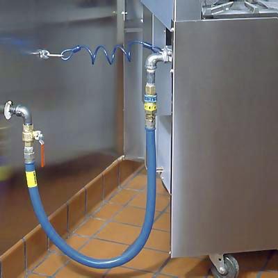 Dormont 1675BPQ48 3/4'' Blue Hose Moveable Gas Connector Hose 48'' Long with Blue Antimicrobial PVC & 1 SnapFast QD by Dormont