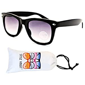 Kd217-vp Kids Child 2-10yr Old Wayfarer 80s Sunglasses (T2531H Black, mirrored)