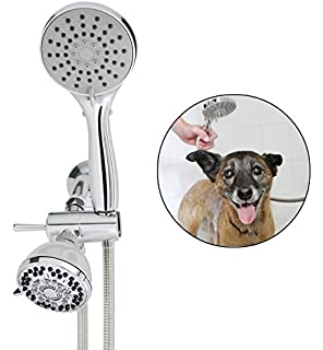 Amazon flying pig pet dog cat washing shower grooming portable smarterfresh pet shower sprayer set complete pet wash hand held shower attachment for home dog solutioingenieria Images