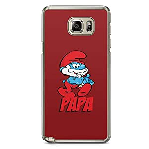 Loud Universe Papa Smurf Red Smurf SamsungNote 5 Case Cute Papa SamsungNote 5 Cover with Transparent Edges