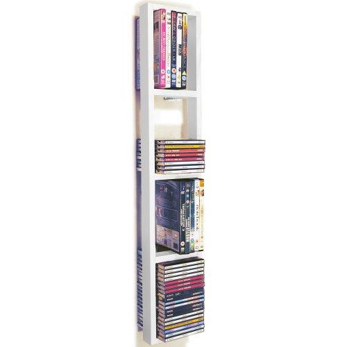 ISIS - étagère murale de rangement CD DVD - blanc: Amazon.fr ...