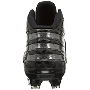 adidas Men's Freak X Carbon Mid Football Cleats, Black/Black/Black, (12.5 M US)