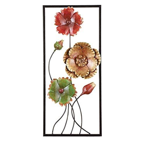 3D Floral Wrought Cutout Metal Wall Art, - Metal Cutout