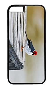 Adorable Crested Cardinal Hard Case Protective Shell Cell Phone Cover For Apple Iphone 6 Plus (5.5 Inch) - PC Black
