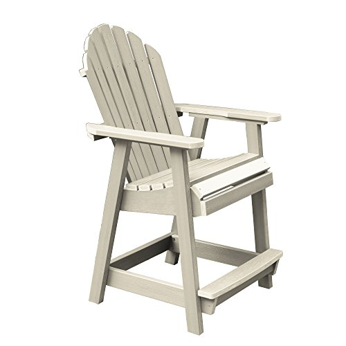 Highwood AD-CHCA2-WAE Hamilton Counter Height Deck Chair, Whitewash (Chairs Deck Height)