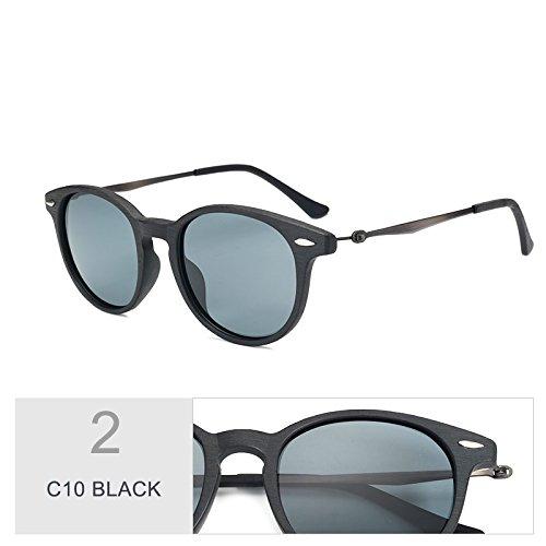 Silver De C10 Similar Gafas Madera Retro Sol Guía Oval Unisex Gafas Uv400 Para BLACK Sol Hombres De Polarizadas Anteojos C96 De TIANLIANG04 Mujeres En 1WBXfqZq