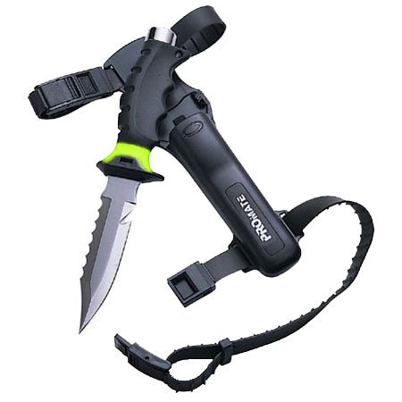 PROMATE Scuba Diving Snorkeling Sharp Tip Stainless Steel Knife (5″ Blade)