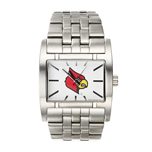 Louisville Wristband (Rockwell NCAA Louisville Cardinals Men's Apostle Watch, Adjustable, Silver)