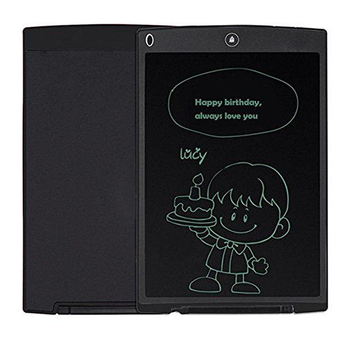 8.5''LCD Writing Board, Portable Paperless Rewritten Digital Graphics Tablet Pad Notepad for Drawing,Note,Memo,Remind,Message,Draft,Scrawl (Black) by Genuiskids (Image #6)