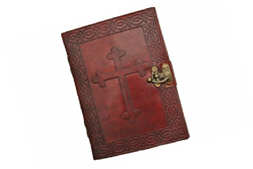 SZCO Supplies Cross Leather Journal with Lock