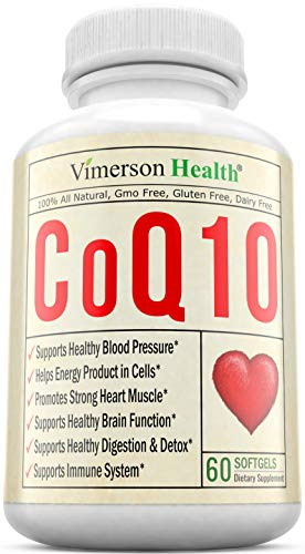 CoQ10 Cardiovascular Health in Softgels - Best Anti-Oxidant & Anti-Aging. All Natural & Non-Gmo for a Healthy Brain, Heart, Blood Pressure, Digestive & Immune System. Made in the USA