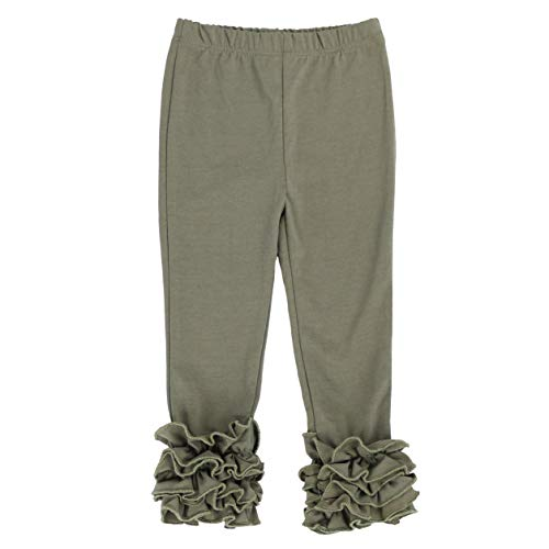 LELEFORKIDS - Toddlers and Girls Bella Babe Ruffle-Hem Legging in Moss Green ()
