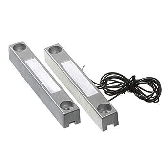 Sensor apertura puertas magnetico con cable WD101 cableado contacto para centrales de alarma conexion detectores cable: Amazon.es: Industria, ...
