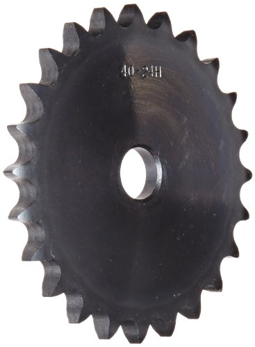 Browning 80A50 Plate Roller Chain Sprocket, Single Strand, Type A Hub, Steel, 1