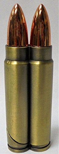 10 Eclipse Double Bullet Novelty Lighters, Refillable Butane Lighter 1614-1-10