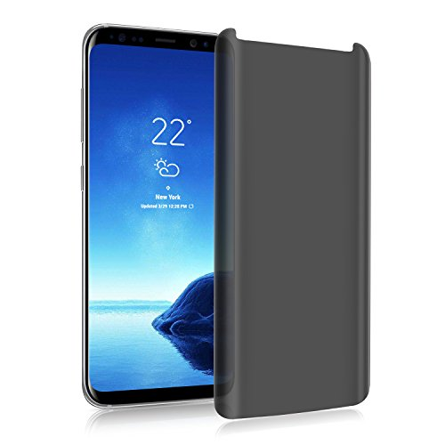 Galaxy S9 Plus Privacy Screen Protector,Super protection S9 Plus Premium[3D Curved][Case Friendly][Anti-Scratch] 9H Hardness Tempered Glass Film Screen Protector for Samsung Galaxy S9 Plus,Transparent