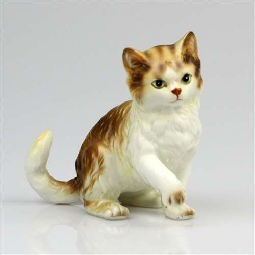 Figurine by Lefton, Porcelain, Tabby Cat
