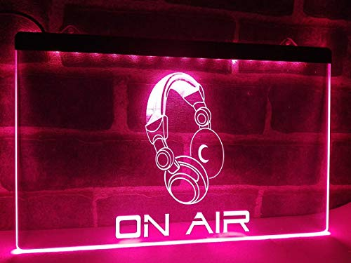 (1st Door Imports On Air Headset LED Sign for DJ Recording Studio)