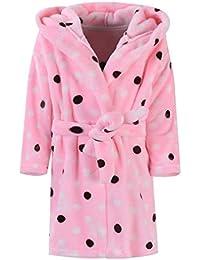 Ameyda Unisex Children's Flannel Bathrobes Hoodie