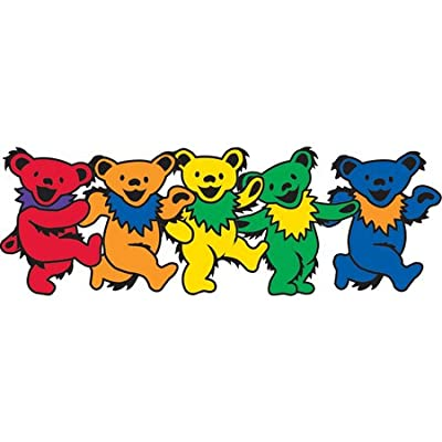 Mini Dancing Bear Pack - 5 Mini Stickers of 1 Bear Each: Automotive