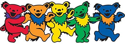 Assorted Long Lasting for Any Surface Weather Resistant Mini Grateful Dead Dancing Bear Sticker GDP