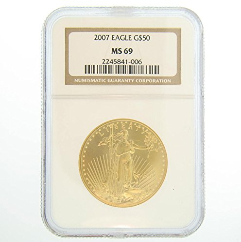 2007 American Gold Eagles $50 MS69 NGC