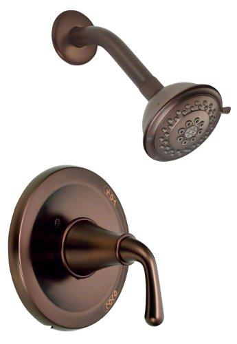 Bannockburn Oil - Danze D510556RBT Bannockburn Single Handle Shower Trim Kit with 3-Function Showerhead, Oil Rubbed Bronze