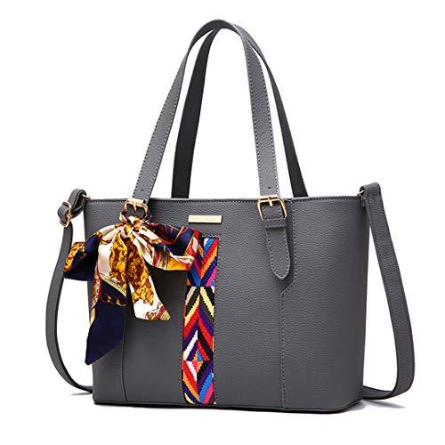 PU dames tout sacs femme main à messager en sac Sentsreny cuir sacs à à fourre grand bandoulière sac main sac Gray femmes Mode qx4w4UTOX