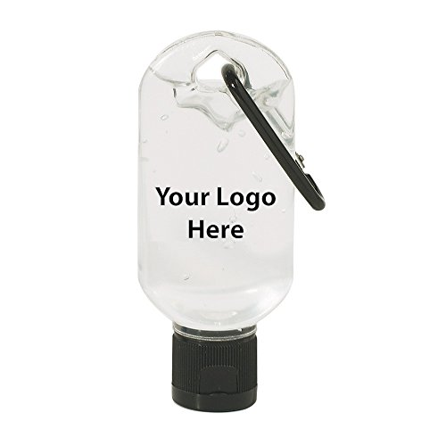 (1.8 Oz. Hand Sanitizer with Carabiner - 100 Quantity - $1.49 Each - Promotional Product/Bulk/Branded with Your Logo/Customized)