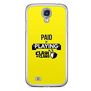 Clash of Clans Samsung Galaxy S4 Transparent Edge Case - Paid for playing cash of clans