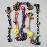 DOG TOY ROPE CHEWS XL 6 ASST STYLES AND COLORS IN PDQ