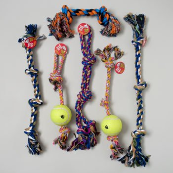 DOG TOY ROPE CHEWS XL 6 ASST STYLES AND COLORS IN PDQ by DollarItemDirect
