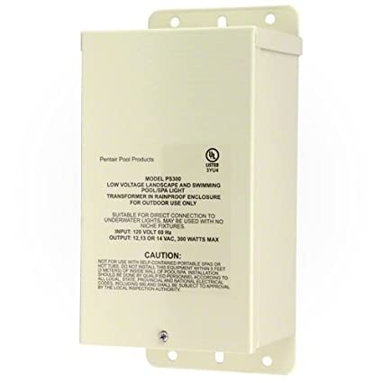 Amazon.com : Pentair 619963 300W 12V-14V Pool Rated Transformer for ...