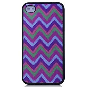 YXF Lureme Colorful Triangle Wave Pattern Hard Case for iPhone 4/4S