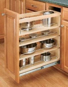 Door Mount 6 in 4-Tier Pull-Out Frameless by Rev-A-Shelf