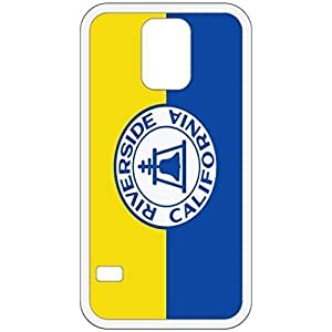 Riverside California CA City State Flag White Samsung Galaxy S5 Cell Phone Case - Cover