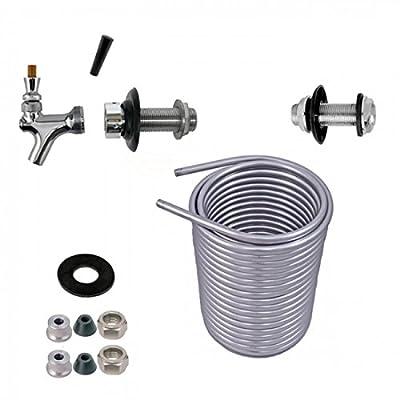 Jockey Box Conversion Kit , DYI Keg Cooler , SS304 Coil Kit . [Select a Size : 50', 70', 120']