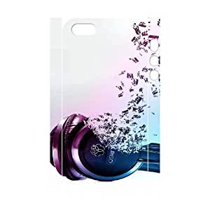 iphone 5 5s Cell Phone Case 3D Headphones 91INA91214447